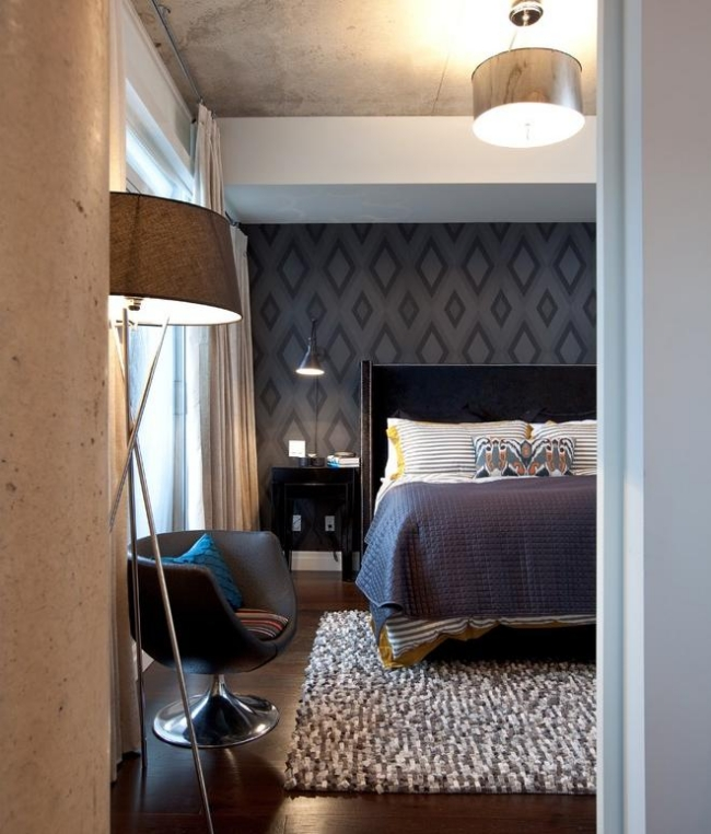 69 Cool Muster Tapete Grau Schlafzimmer